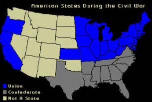us map at time of civil war confederate vs union map