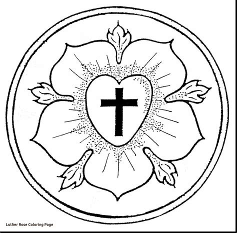 luther rose coloring page martin luther rose coloring page archives