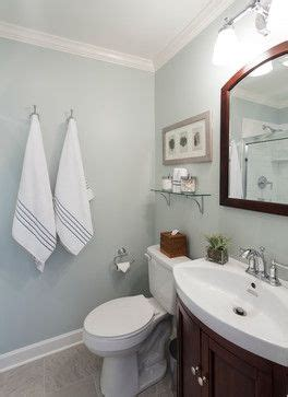 lake house style bathroom color is farrow and