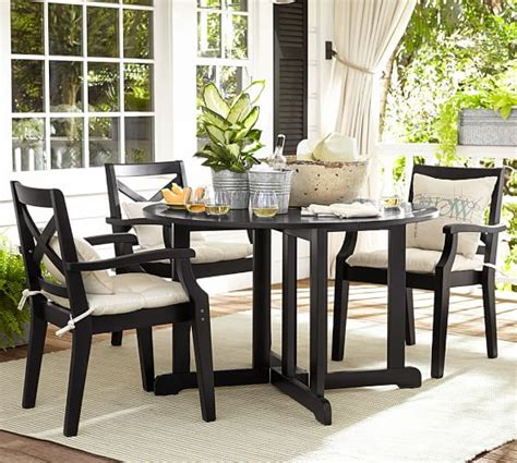 Pottery Barn Black Dining Table Hstead Painted Drop Leaf Dining Table Black Pottery Barn