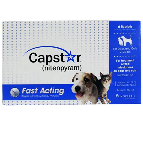 capstar for dogs capstar blue for dogs or cats 2 25 lbs 6 tablets
