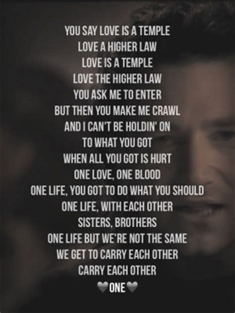testo one u2 u2 quotes quotesgram