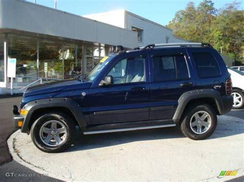 midnight blue jeep 2005 midnight blue pearl jeep liberty renegade 4x4