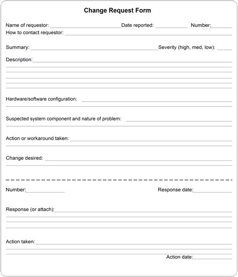 process change request form template best photos of work request template maintenance work