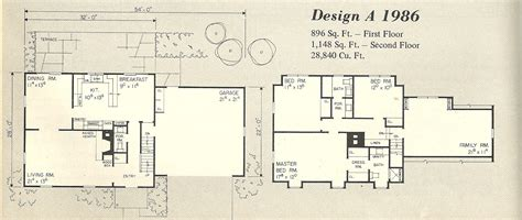 gambrel house floor plans vintage home plans gambrel 1986a antique alter ego