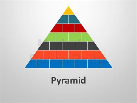 pyramid shapes editable powerpoint templates
