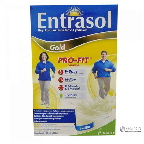 Entrasol Gold Vanilla 600 Gram detil produk entrasol gold vanilla kotak 600 gr