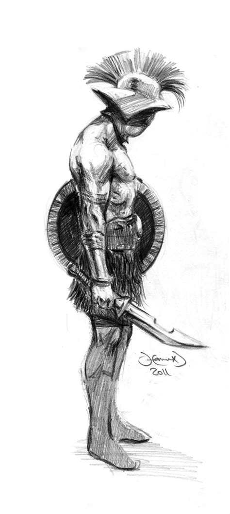 gladiator sketch by hamex on deviantart