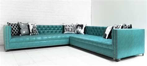 turquoise faux leather sectional turquoise teal aqua