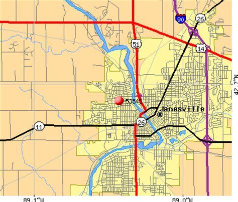 zip code map janesville wi 53545 zip code janesville wisconsin profile homes