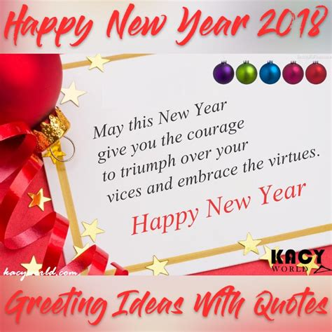 happy new year greeting card 2018 ideas with quotes