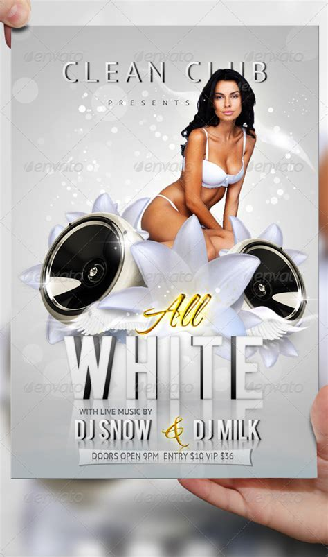 14 white party all photoshop flyer templates images all