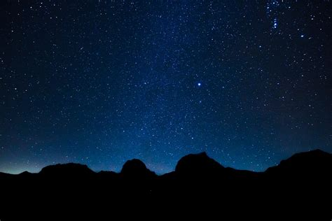 sternenhimmel le free photo starry sky mountains free image on