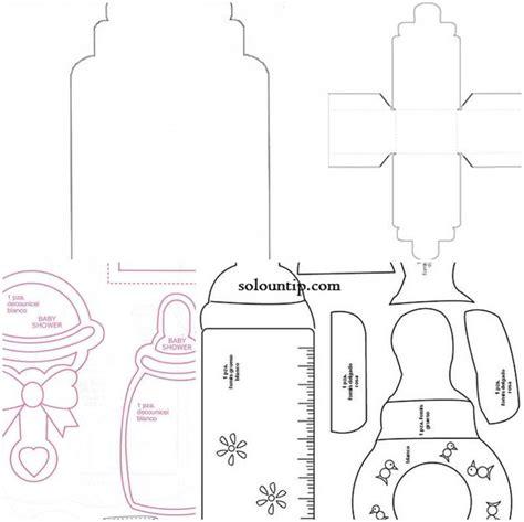 moldes para imprimir de baby shower moldes de biberones para baby shower en foami cosas que