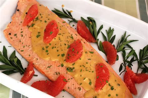 poached salmon oven poached salmon with pink grapefruit and tarragon