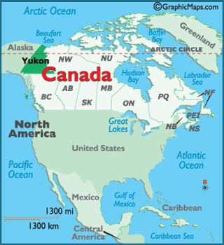 Yukon Canada Map by White Horse Yukon Map