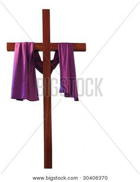cross with purple drape cross draped purple easter image photo bigstock