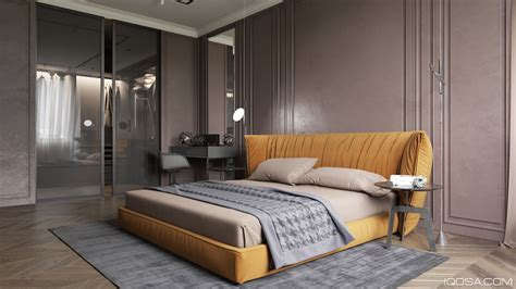 nice Interior Design For Bedrooms #1: double-bed-wall-panelling-beauty-table-Iqosa.jpg