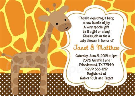 giraffe baby shower invitations template giraffe baby shower invitations baby shower for parents