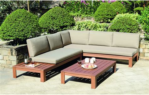Lounge Garden Furniture Sets Miami Wooden Garden Lounge Set With Cushions Out And Out