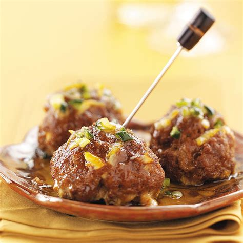 printable tapas recipes tapas meatballs with orange glaze recipe taste of home