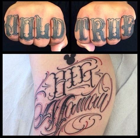 tattoo lettering knuckles 89 best images about knuckle tattoos on pinterest
