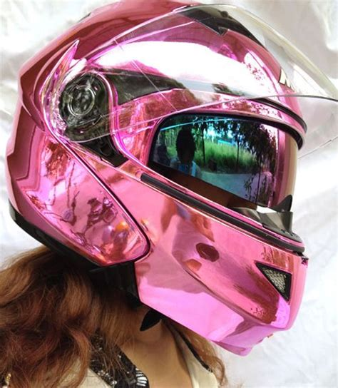 Motorradhelm Pink Damen by Masei 815 Dot Motorcycle Helmet Chrome Pink Size M L Xl