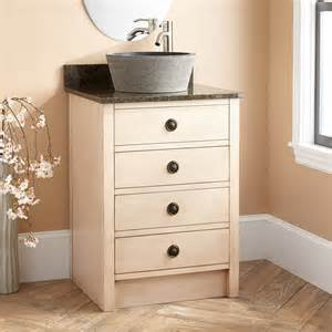24 quot thornwood vessel sink vanity antique white bathroom