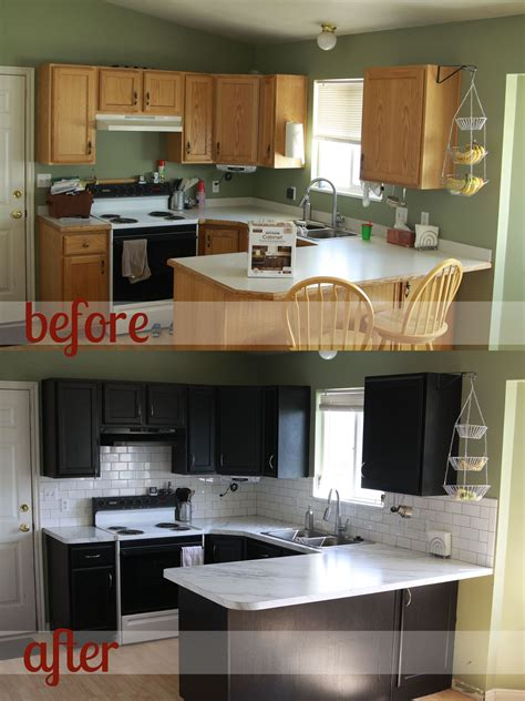 Painting Kitchen Cabinets Black Before And After by Rustoleum Cabinet Transformations Review Before After