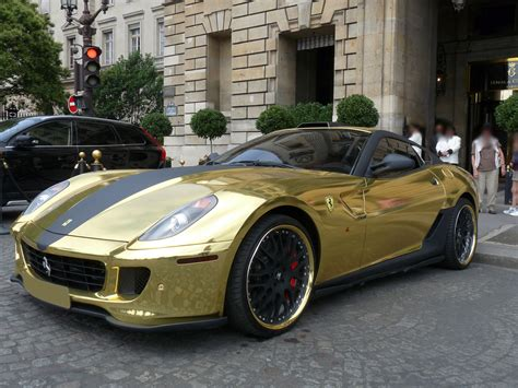 gold ferrari golden ferrari 599 gtb gtb meet modified german