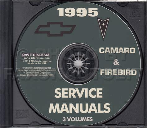 1994 chevrolet camaro pontiac firebird shop service repair 1995 camaro firebird trans am repair shop manual cd