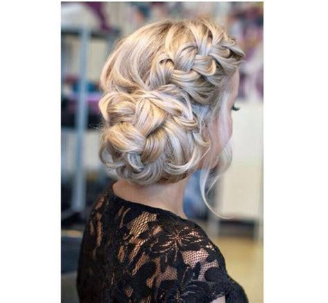 hair style for a ball fryzury na wesele koki i upięcia z warkoczem