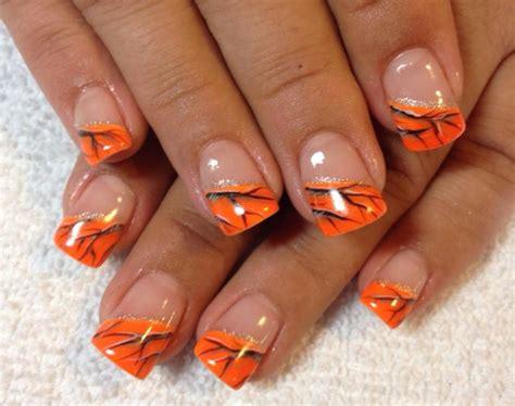 orange pattern nails orange real tree camo nails pink camo nails pinterest
