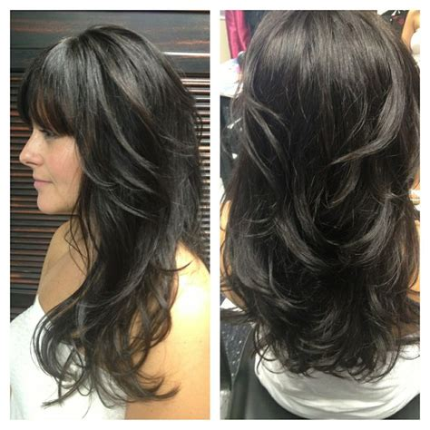 long hair with layers in bottom one of my clients with awesome hair goldwell color line