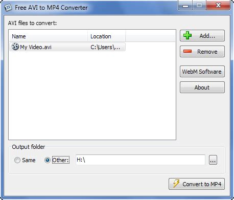 converter avi to mp4 free online free avi to mp4 converter