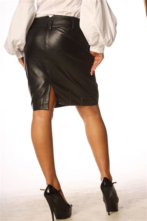 Jacket Black Leather Sk 56 black leather skirt leather pencil skirt tight fit skirt