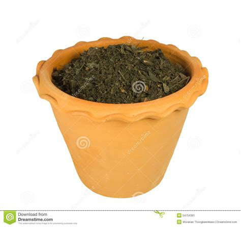Planter Soil by Flower Pot With Soil Stock Image Cartoondealer 41439523