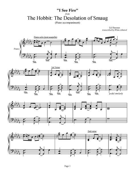 ed sheeran hobbit free mp3 download the hobbit the desolation of smaug i see fire piano