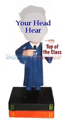 bobblehead point graduate points to degree custom bobblehead doll