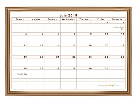 Calendar Template July 2015 July 2015 Calendar With Holidays Search Results