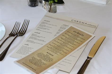 The Table Restaurant Menu 7 Tips For Printing Restaurant Menus Tundra Restaurant