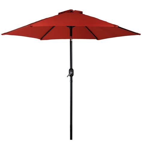 5 Foot Umbrella Patio Patio Market Umbrella W Tilt Crank 7 5 Foot Aluminum