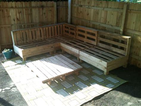 outdoor pallet sofa modern backyard