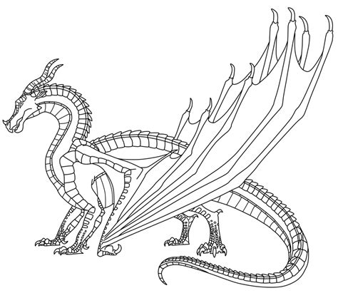 seawing dragon coloring page wings of fire free to use skywing lineart by