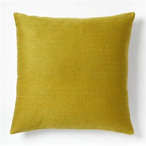 Crewel Pillow Covers by Solid Crewel Pillow Covers Curry West Elm