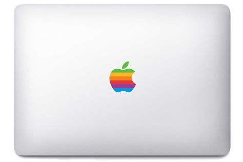 Sticker Apple sticker quot apple school quot ancien logo pour macbook et