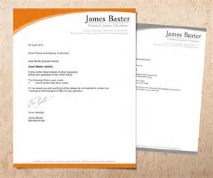 bold serious letterhead design design for james baxter a