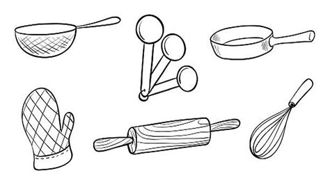coloring pages for kitchen utensils coloring pages how to draw baking tools set for kids