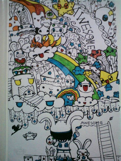 doodle on wall doodle wall on paper by shadowvan on deviantart