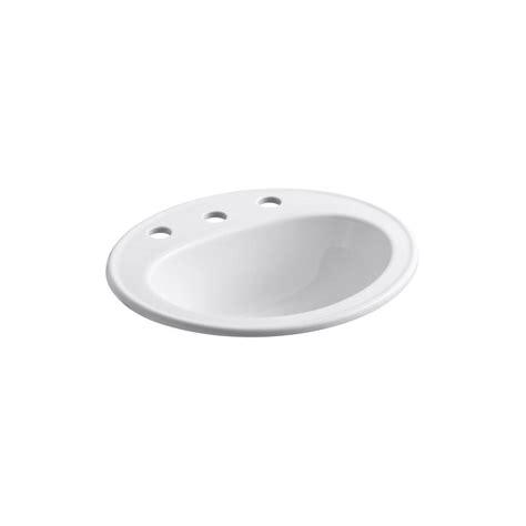 Kohler Pennington Sink kohler pennington drop in vitreous china bathroom sink in